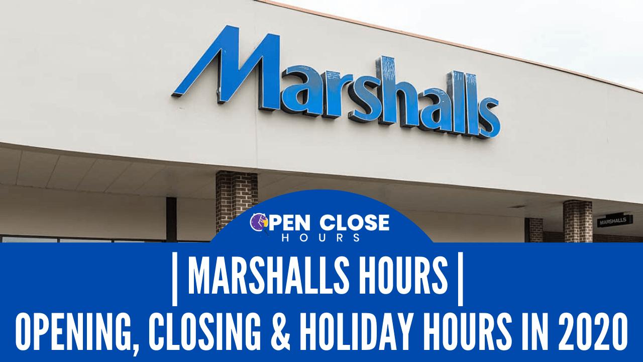 Marshalls Hours Thumbnail