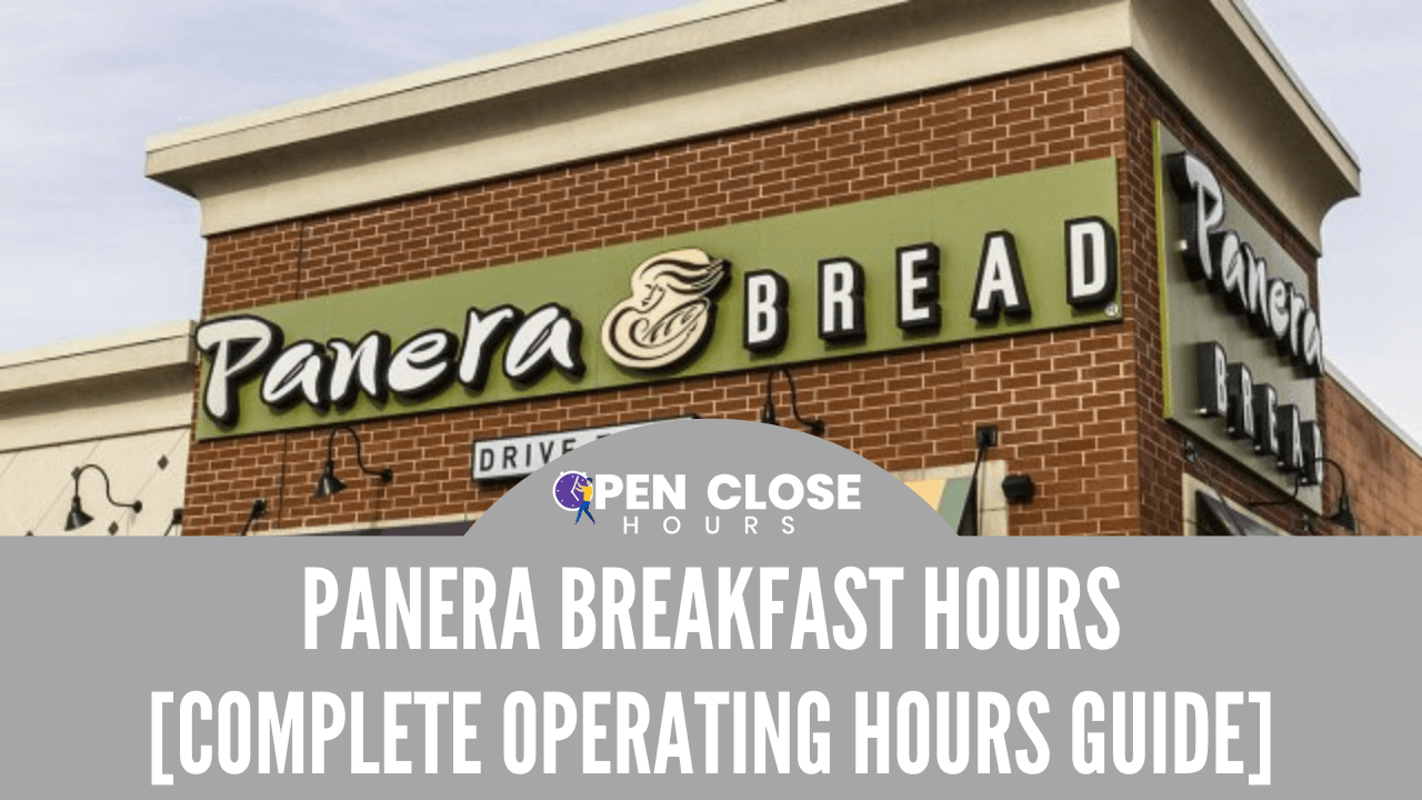 Panera Breakfast Hours